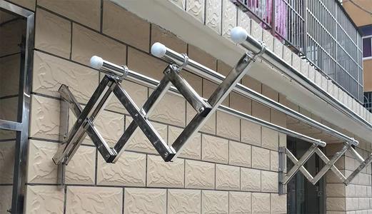 阳台外固定伸缩晾衣架