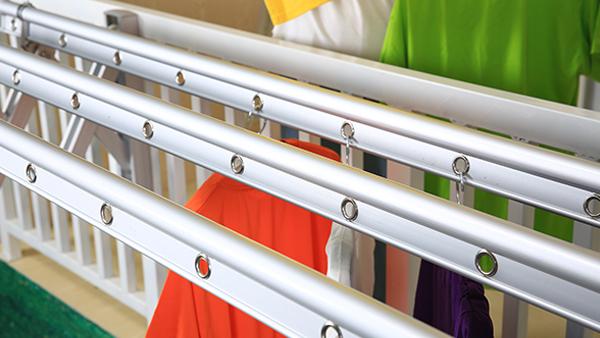 美伊户外晾衣架连体结构设计,牢固抗氧化
