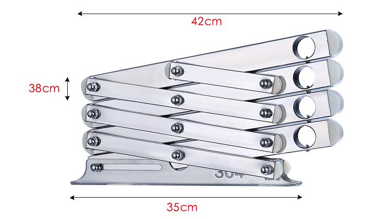 户外晾衣架DDF不锈钢系列304-3尺寸规格